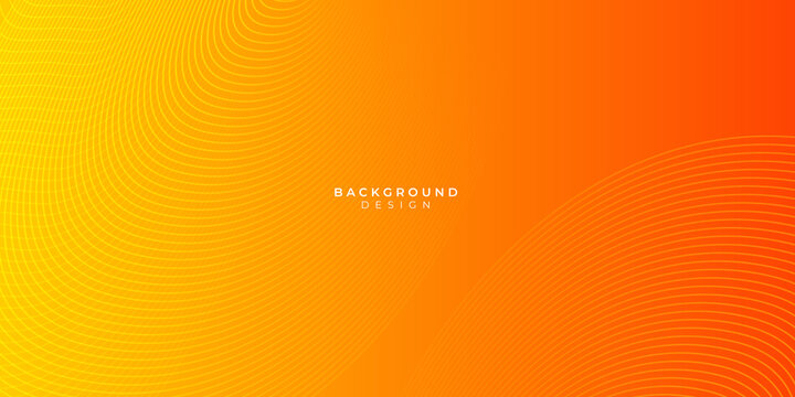 Orange abstract curve wave clean light gradient background
