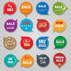 Quality badges set for sale