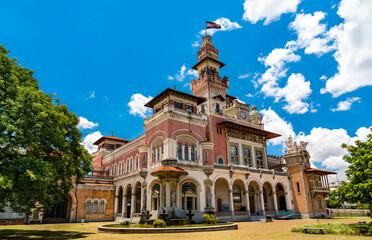 Palacio das Industrias, a historical building housing Catavento science museum - Sao Paulo, Brazil