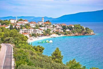 Gradac village on Makarska riviera waterfront view