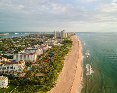 Singer Island, West Palm Beach, Palm Beach County, Florida drone photography of beach condos