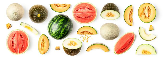 Watermelon and melon pattern