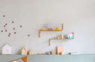 Shelves with Toys at Child's Room