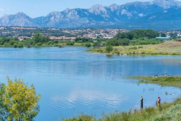 Reservoir of Pedrezuela (Guadalix, Madrid, Spain)
