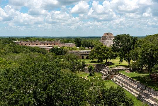 Mayan ruins on the jungle