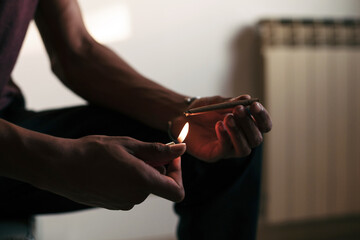 Lighting a joint