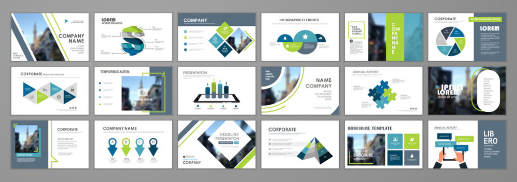 Annual report brochure set