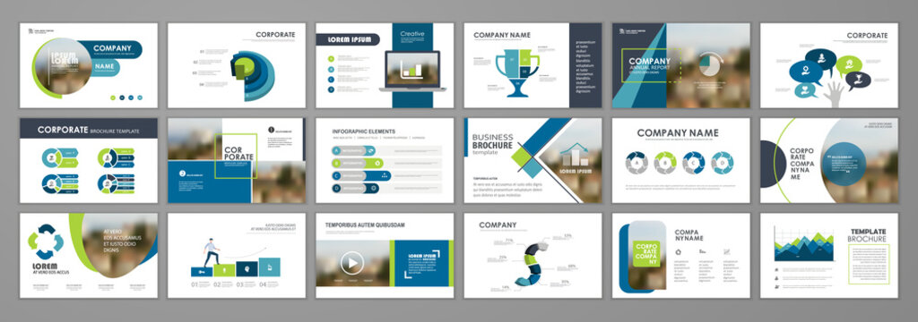 Brochure layout design template set