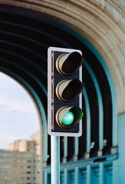 Traffic light on Tower Bridge