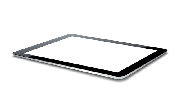 Vector tablet pc isolated on white background.