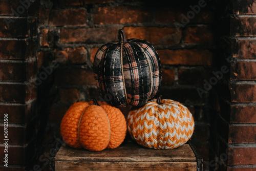 Pumpkins on display at home
