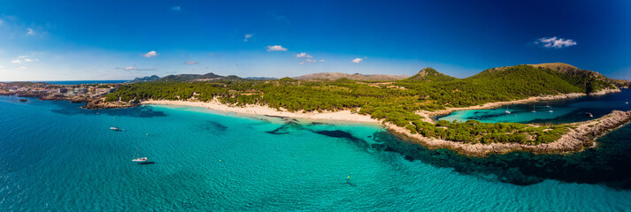 Cala Agulla sand beach Spain, Balearic Islands, Mallorca, Cala Rajada