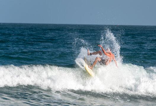 Surfing at Wrightsville Beach Before Hurricane Isaias