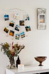 floral arrangement and photos