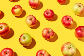 Natural organic apple pattern. Wall mural