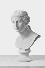 Aluminium Prints Historic monument Plaster busts of greek goddess
