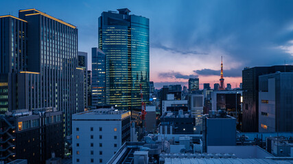 cityscape of Tokyo Fotomurales