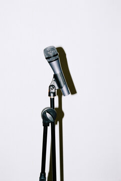 Microphone on the white background