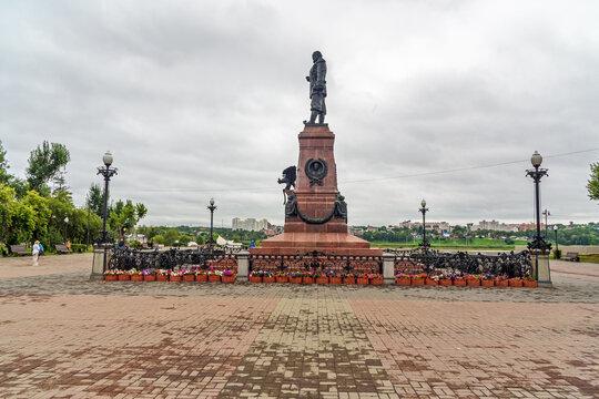 Monument of Emperor Alexander III in Irkutsk, Russia