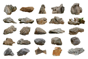 Wall Mural - rock isolated on white background.
