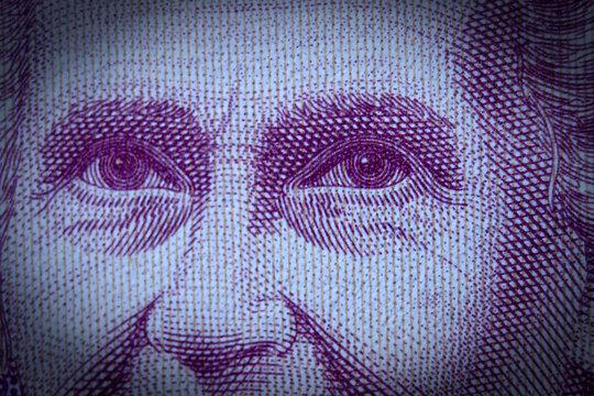 Maria Montessori auf einem 1000 Lira Schein aus Italien