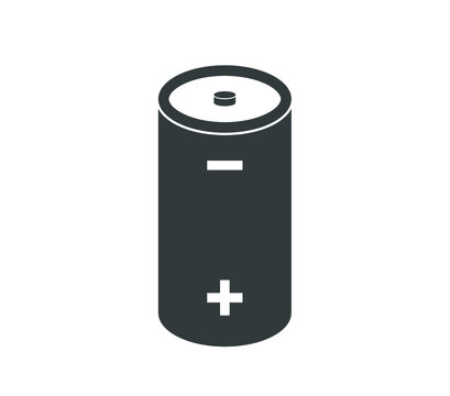 Battery icon. Power battery isolated vector design.