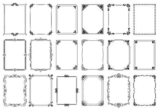 Ornamentos para quadro enfeite de ladrilho - arabesco -