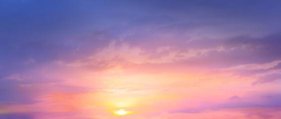 magical pink sunrise sky background