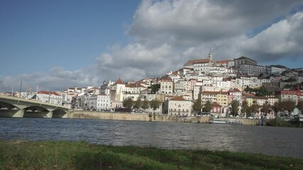 Wall Mural - Panoramic view of Coimbra from the river, Portugal