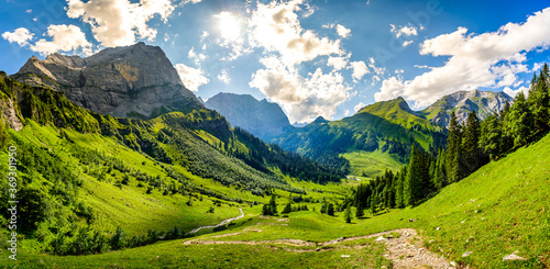 Wall mural landscape at the eng alm in austria