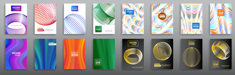 Abstract set minimal geometric cover design background. Business templates, annual report, modern brochure, flyer layout, poster. Vector eps10