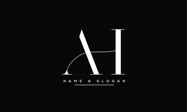 AH ,HA ,A ,H abstract letters logo monogram