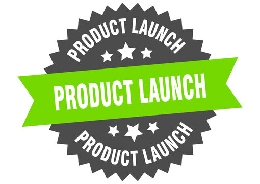 product launch round isolated ribbon label. product launch sign