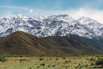 Andes mountain range in Mendoza Argentina