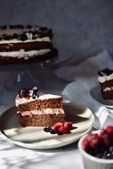 Ciasto czekoladowe - tort czekoladowy