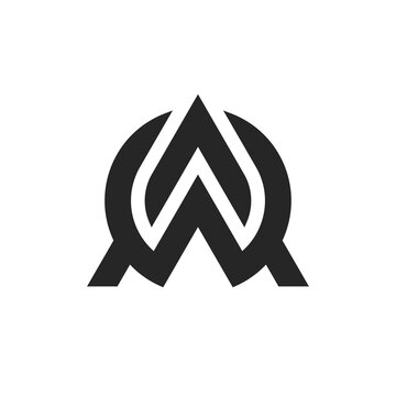 letter AW logo template