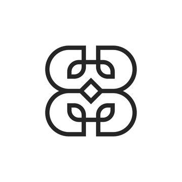 letter BB logo design