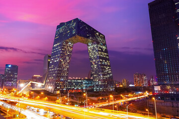 The CCTV Headquarters on the CMG Guanghua Road Office Area in Beijing, China