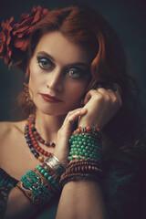 gypsy woman portrait