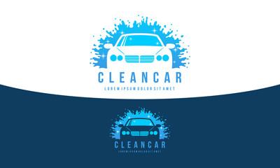 Car Wash Logo - Clean Car Vector