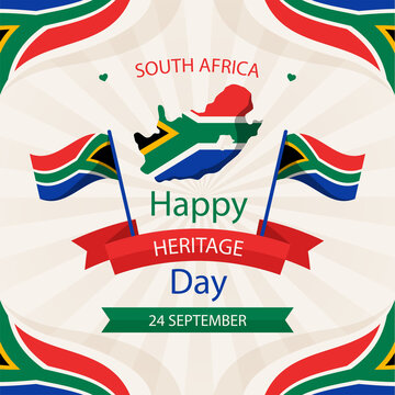 Heritage day of  South Africa 24 September-Vector illustration