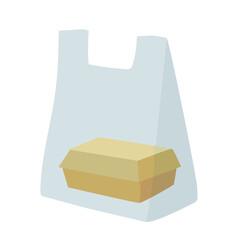 袋に入ったお弁当 イラスト