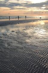 Walking on the low tide shore. White Beach. Boracay island. Western Visayas. Philippines