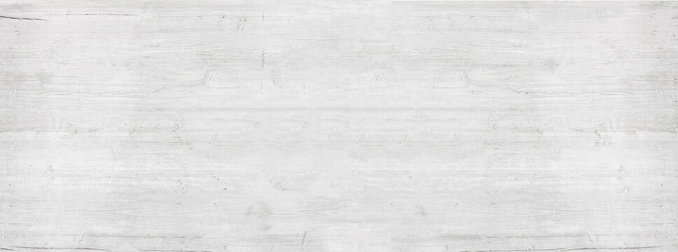 White painted wooden floor, table surface, chopping board. Wooden plank