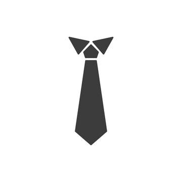 The tie icon. Necktie and neckcloth symbol. Flat Vector illustration