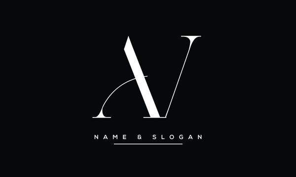 AV ,VA ,A ,V abstract letters logo monogram