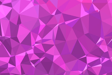 Abstract textured Pink polygonal background. low poly geometric consisting of triangles of different sizes and colors. use in design cover, presentation, business card or website. Wall mural
