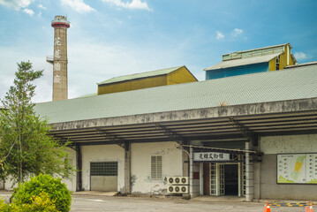 August 2, 2020: Huatang Museum of Hualien Sugar Factory, in Guangfu township, hualien, taiwan, was built in the Japanese colonial era. now the museum display sugar manufacturing related implements.
