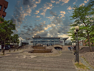 Kiel Europaplatz in the city center, Germany