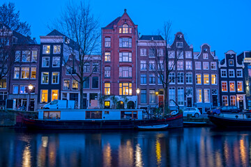 City scenic from Amsterdam at the Herengracht in the Netherlands